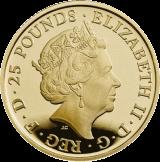 Великобритания монет четыре поколения королевской семьи, золото, аверс
