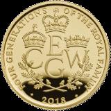 Великобритания монет четыре поколения королевской семьи, золото, реверс