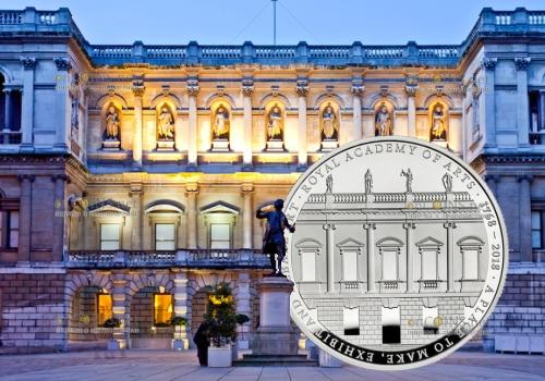 Великобритания монета 5 фунтов Королевская академия искусств