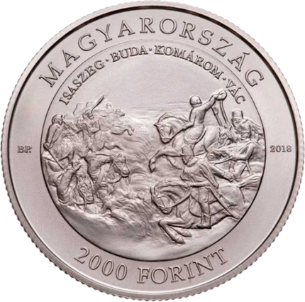 Венгрия монета 2000 форинтов 200 лет со дня рождения Артура Гёргея, аверс