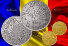 Андорра монеты 25 лет конституции Андорры
