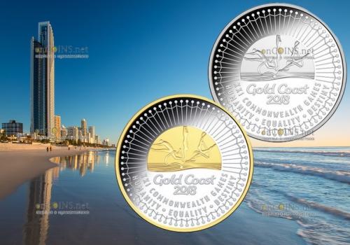 Австралия памятные монеты XXI Игры Содружества