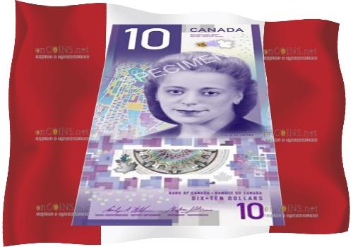 банкнота 10 долларов Канады 2018 года