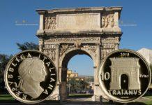 Италия монета 10 евро император Траян