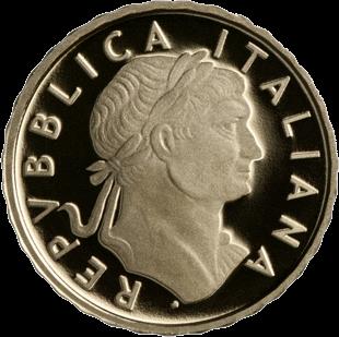 Италия монета 10 евро император Траян, аверс