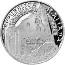 Италия монета 10 евро кафедральный собор Трани, аверс