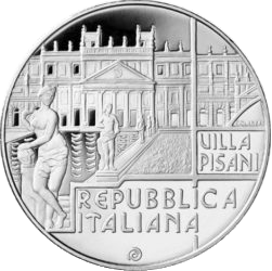 Италия монета 5 евро Виллы Венеции, аверс