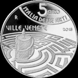 Италия монета 5 евро Виллы Венеции, реверс