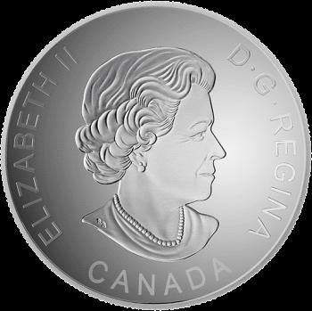 Канада монета 25 долларов 180 лет канадского бейсбола, аверс