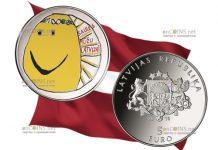 Латвия монета 5 евро Моя Латвия