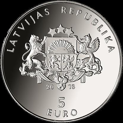Латвия монета 5 евро Моя Латвия, аверс