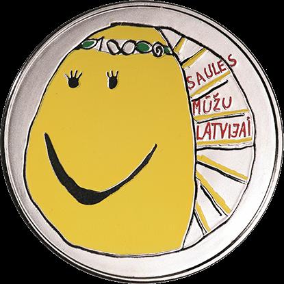 Латвия монета 5 евро Моя Латвия, реверс