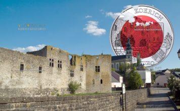 Люксембург монета 5 евро Замок Кёрих