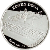 Молдова монета 50 лей Евгений Дога, реверс