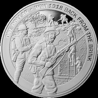 Новая Зеландия монета 1 доллар Взятие Ле Кусни, реверс