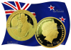 Новая Зеландия монета 10 долларов Путь домой
