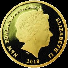 Новая Зеландия монета 10 долларов Путь домой, аверс