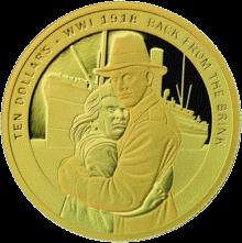 Новая Зеландия монета 10 долларов Путь домой, реверс