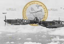 Великобритания монета 2 фунта стерлингов Спитфайр
