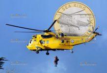 Великобритания монета 2 фунта стерлингов вертолет Морской король