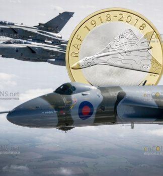 Великобритания монета 2 фунта стерлингов Вулкан