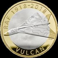 Великобритания монета 2 фунта стерлингов Вулкан, реверс