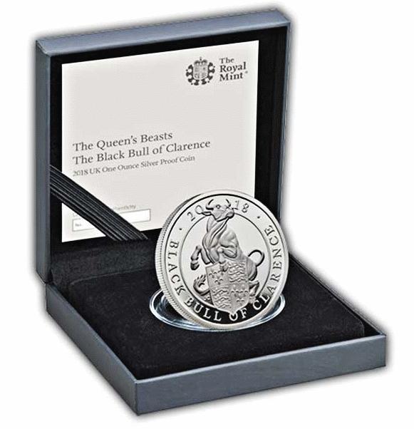 Великобритания монета Черный Бык Кларенса, подарочная упаковка