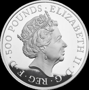 Великобритания монета Черный Бык Кларенса, серебро, аверс