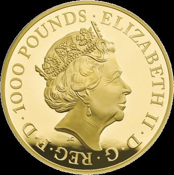 Великобритания монета Черный Бык Кларенса, золото, аверс
