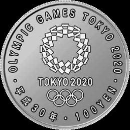 Япония монета 100 иен Токио-2020, аверс