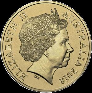 Австралия монета 2 доллара алюминиевая бронза, аверс