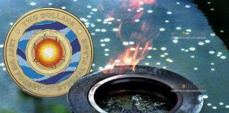 Австралия монета 2 доллара Вечный огонь