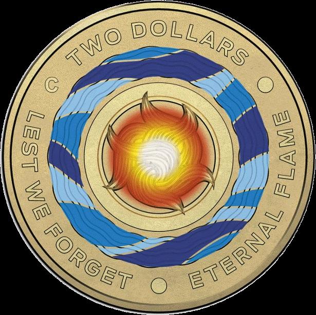 Австралия монета 2 доллара Вечный огонь, реверс