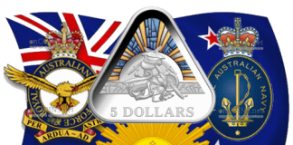 Австралия монета 5 долларов Австралийские силы обороны