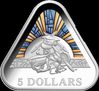 Австралия монета 5 долларов Австралийские силы обороны, реверс