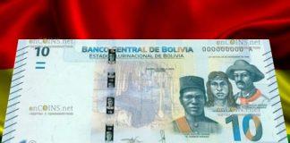 Боливия банкнота 10 боливиано 2018 год