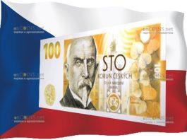 Чехия памятная банкнота 100 крон 100-летие чехословацкой валюты
