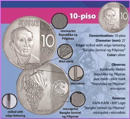 Филиппины монета 10 песо 2018 год