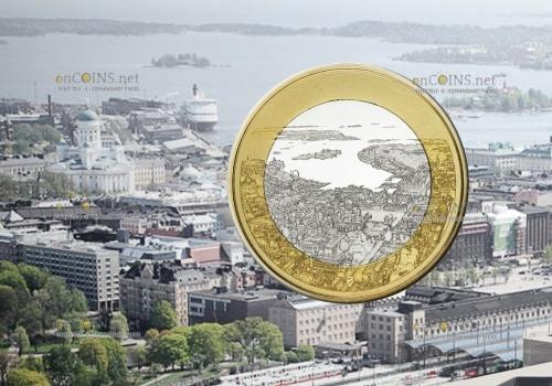 Финляндия монета 5 евро Морской Хельсинки