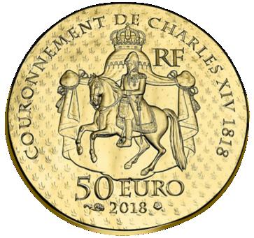 Франции монет 50 евро Дезире Клари, аверс