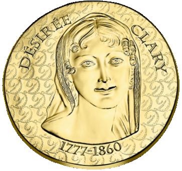 Франции монет 50 евро Дезире Клари, реверс