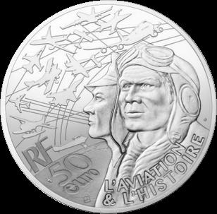 Франция монета 50 евро Дакота С-47, аверс