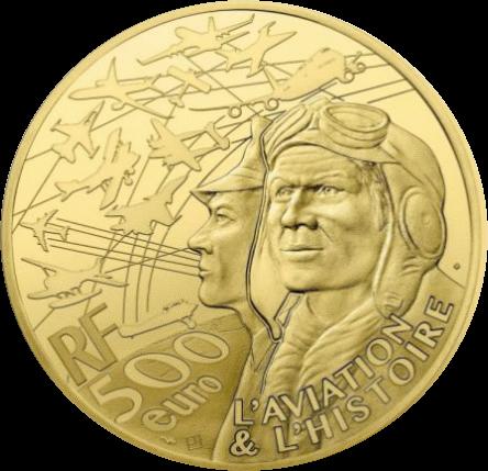 Франция монета 500 евро Дакота С-47, аверс