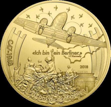 Франция монета 500 евро Дакота С-47, реверс