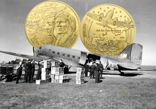 Франция серия монет самолет Дакота С-47