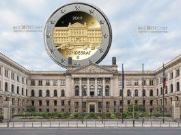 Германия монета 2 евро 70-летие Бундесрата