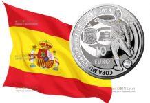 Испания монета 10 евро Чемпионат мира по футболу 2018