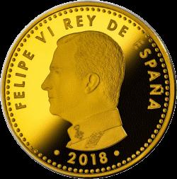 Испания монета 100 евро Чемпионат мира по футболу 2018, аверс