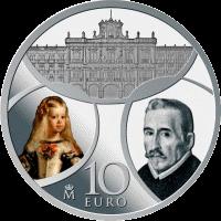 Испания памятная монета 10 евро Барокко и Рококо, аверс