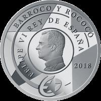 Испания памятная монета 10 евро Барокко и Рококо, реверс